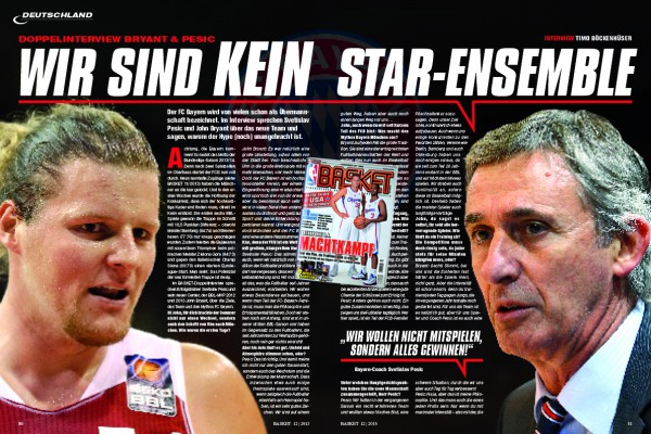 Das Doppel-Interview mit dem BBL-MVP der vergangenen beiden Jahr und Erfolgscoach Svetislav Pesic gibt's in BASKET 12/2013.