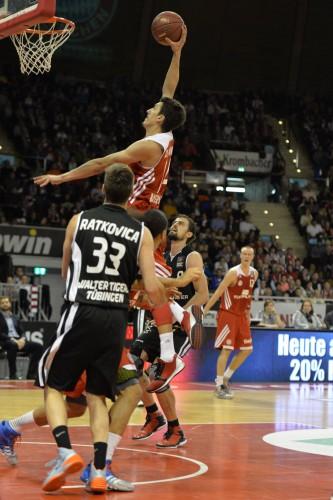 Nihad Djedovic war gegen Tübingen mit 18 Punkten, fünf Assists und vier Rebounds bester Mann der Bayern.