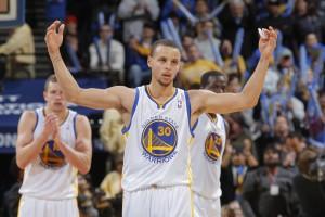 Steph Curry nach seinem Game-Winner gegen die Mavericks.