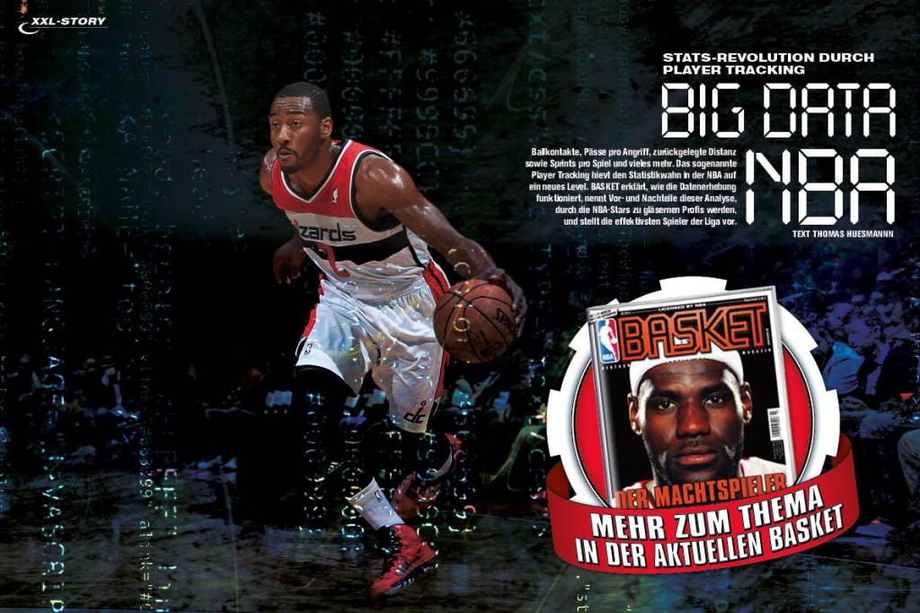 Datenwahn in der NBA - in BASKET 3/14 erfahrt ihr alles über das Player-Tracking