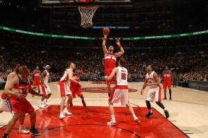 31 Zähler, zwölf Rebounds und vier Blocks: Marcin Gortat avancierte zum Erfolgsgarant der Wizards.