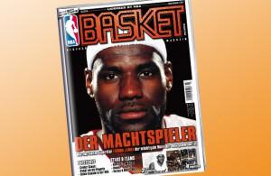 Alles zu LeBron James gibt's in BASKET Ausgabe 03/2014, die in den Kiosks und Läden liegt.