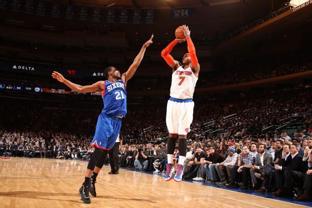Carmelo Anthony lieferte mit 22 Zählern, neun Rebounds und fünf Assists ein starkes Allround-Game ab.
