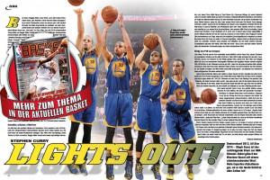 Steph Curry ist der beste Schütze der NBA-Geschichte, oder? Die Antwort gibt's in BASKET 04/2014.
