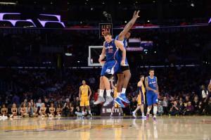 Grund zur Freude: Die Clippers fuhren gegen die Lakers einen historischen Sieg ein.