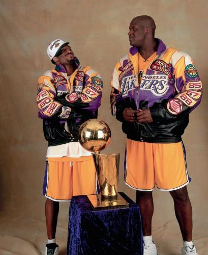 Kobe & Shaq nach ihrer ersten Meisterschaft
