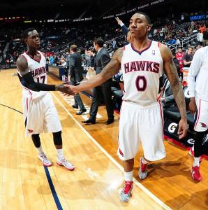 Zufrieden: Den Hawks gelang ein wichtiger Sieg im Kampf um die Playoffs.