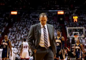 Pacers-Coach Frank Vogel hat taktisch das Nachsehen gegenüber seines Kontrahenten, Erik Spoelstra.