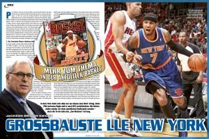 Die Analyse zur Situation in NEw York und den Kampf der Knicks um den Verbleib ihres Superstars gibt's in der aktuellen Ausgabe BASKET 07-08/2014.