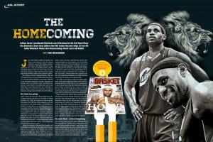 Die Story zu LeBron James' Rückkehr nach Cleveland aus der aktuellen BASKET 09-10/2014.