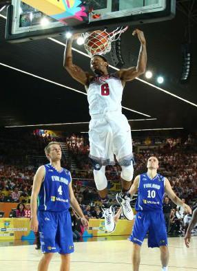 Bulls-Star Derrick Rose zeigte gegen die Finnen einige Male eindrucksvoll, dass seine Athletik nicht unter seinen Verletzungen gelitten hat. Foto: Getty Images