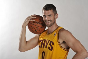 Head Shots of Kevin Love of the Cleveland Cavaliers
