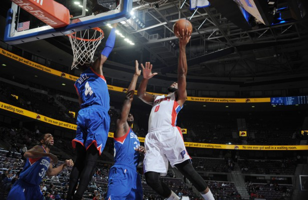 Fight unter den Brettern: Andre Drummond vs. Nerlens Noel (Foto: Getty Images)