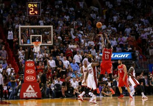 James Harden erzielte gegen Miami fast ein Triple-Double. (Foto: Getty Images)