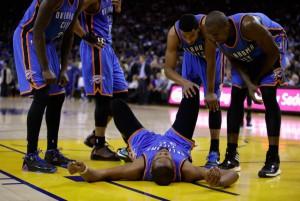 Kevin Durant hofft, dass er heute Nacht gegen die Lakers wieder spielen kann. (Foto: Getty Images)