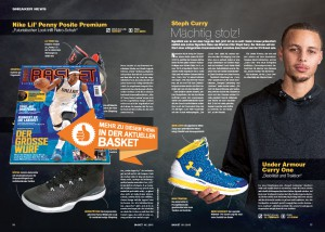 Alles über Steph Currys ersten Signature-Shoe gibt's in BASKET 3/2015.