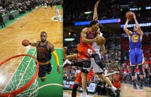 LeBron, D-Rose und Steph Curry überragten die Nacht (Foto: Getty Images)