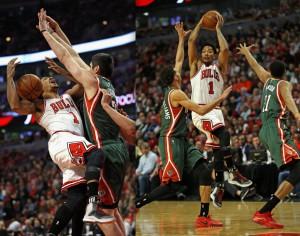 """Die """"Rose-Falle"""": Milwaukee doppelt oder trippelt Derrick Rose immer wieder (Foto: Getty Images)"""