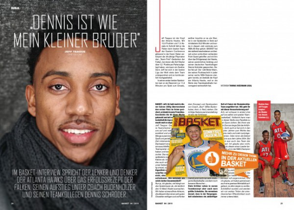 Ein Interview mit Jeff Teague gibt's in BASKET 6/2015.