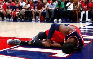 John Wall droht für den Rest der Playoffs auszufallen! (Foto: Getty Images)