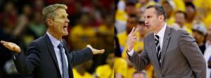 Steve Kerr und David Blatt liefern sich in den Finals das Coaching-Duell (Foto: Getty Images)