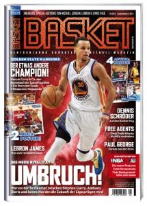 Cover 1 von BASKET 7-8/2015: Steph Curry