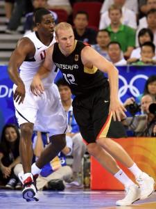 Bei den Olympischen Spielen 2008 war Chris Kaman der zweite Leistungsträger neben Dirk Nowitzki (Foto: Getty Images)