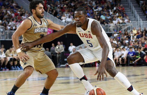 Kevin Durant war mit 23 Zählern Topscorer gegen Argentinien (Foto: Getty Images)