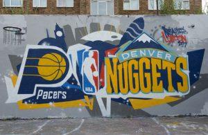Das passende Graffiti zum Global Game in London.  Foto: getty images
