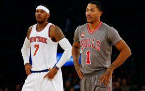 Zum Auftakt gegen die Cavaliers sind Carmelo Anthony und Derrick Rose zum ersten Mal Teammates. (Foto: Getty Images).