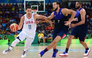 Ende der Krise: Mit 30 Punkten war Klay Thompson der Match-Winner der USA gegen Frankreich (Foto: Getty Images).