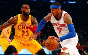 Off-Court gute Freunde, treffen LeBron James und Carmelo Anthony heute zum Saison-Start der NBA aufeinander.