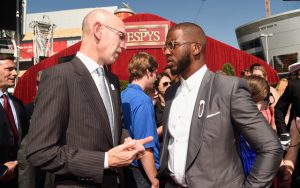 NBA-Commissioner Adam Silver und NBPA-Präsident Chris Paul (Foto: Getty Images).
