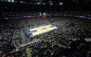 Die O2-Arena in London während des NBA Global Games 2017.