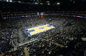 Die O2-Arena in London während des NBA Global Games 2017.