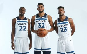 Die Minnesota Timberwolves beim offiziellen Media day der NBA.