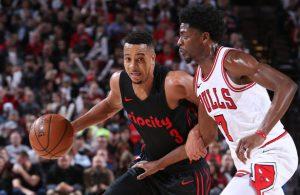 CJ McCollum bei seiner 50-Punkte-Performance gegen die Chicago Bulls.
