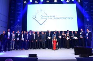 Die Geehrten und Gäste beim Deutschen Sportjournalistenpreis 2017 in Hamburg.