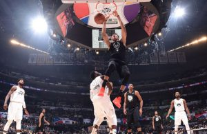 Giannis Antetokounmpo von den Milwaukee Bucks im All Star Game 2018.