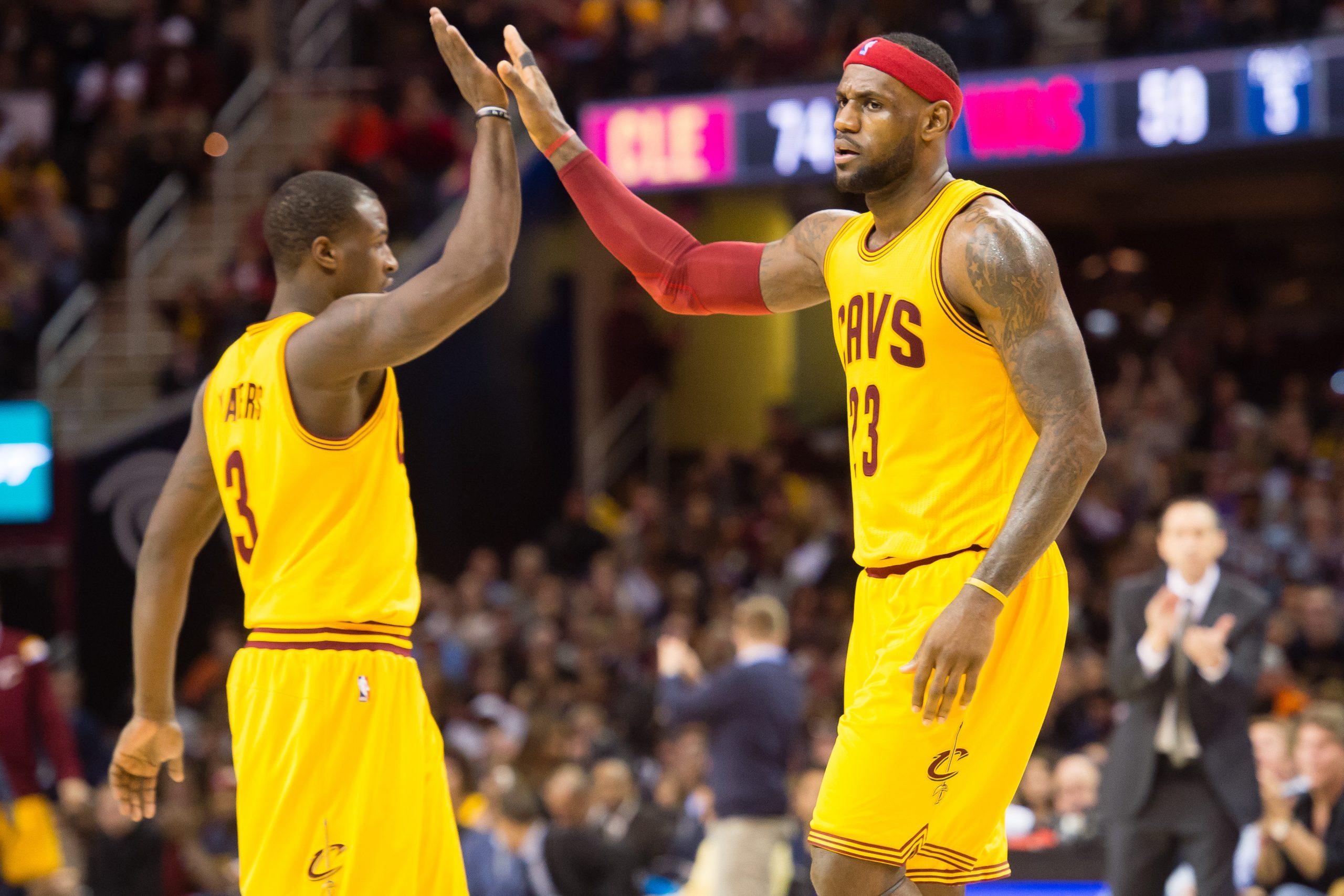 LeBron James und Dion Waiters