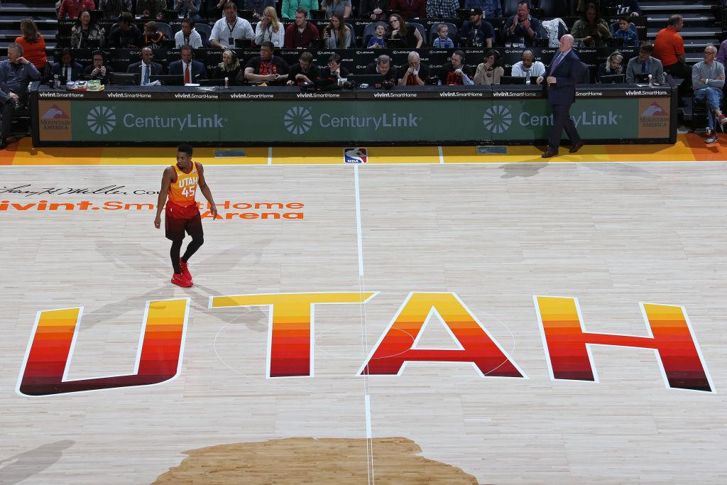 Utah Court, Donovan Mitchell